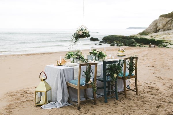 Irish wedding photography beach styled shoot