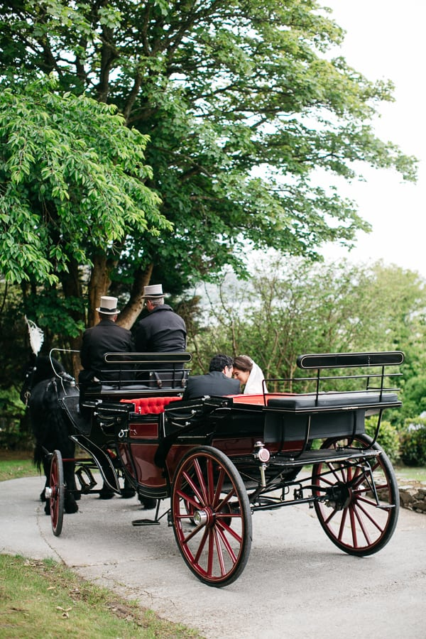 Wedding ireland Donegal horse and carriage