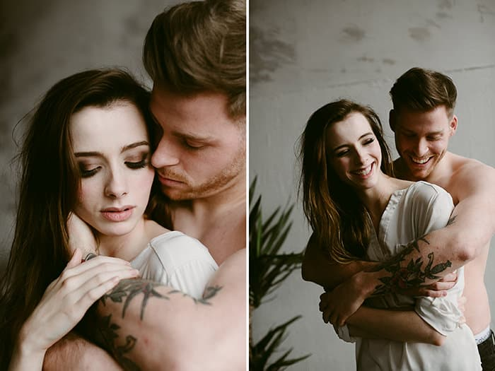 intimate couple photography indoors