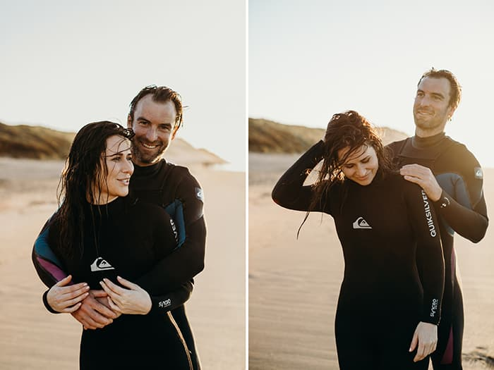 surf couple session ireland