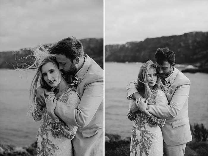 alyssa and billy irish elopement