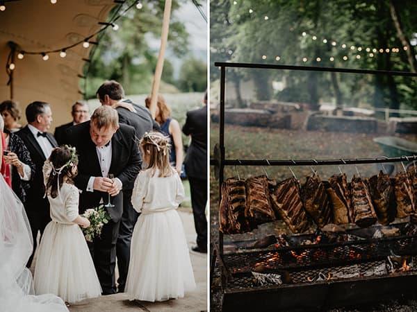 backyard irish wedding