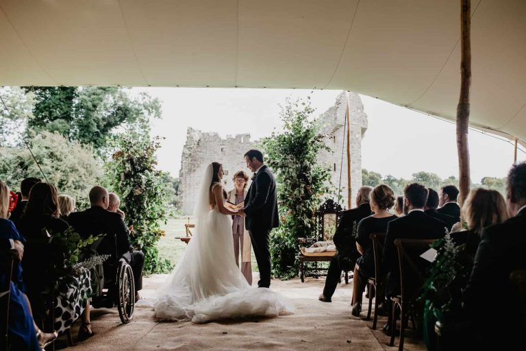 Rachel and Alan – Backyard Castle wedding