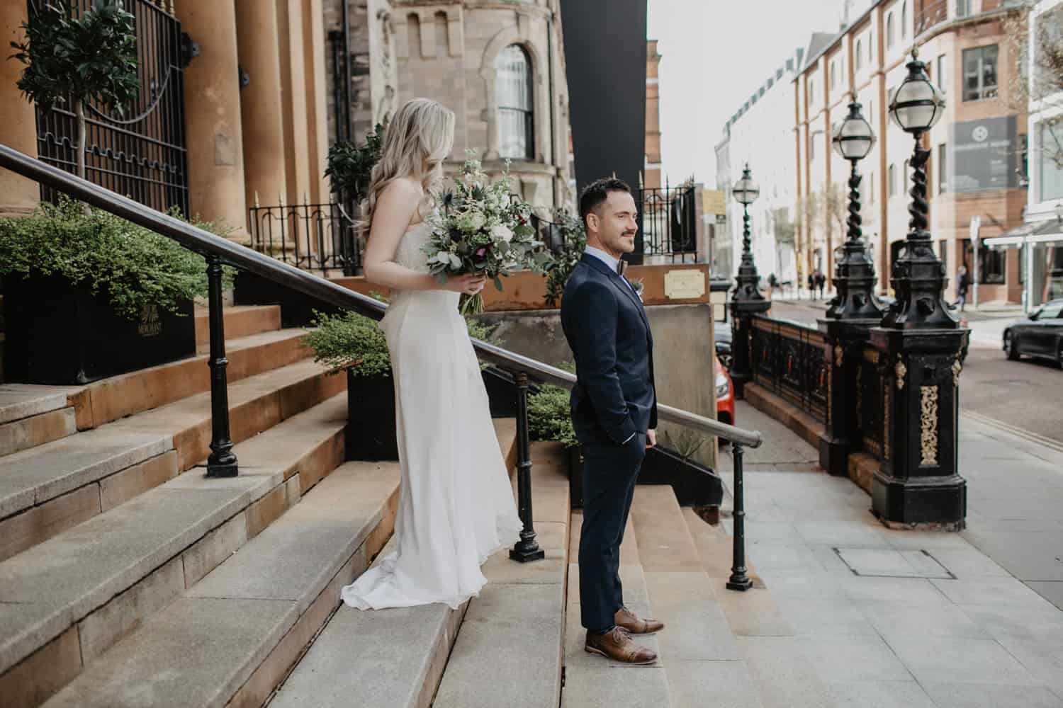 first look - Wedding Belfast