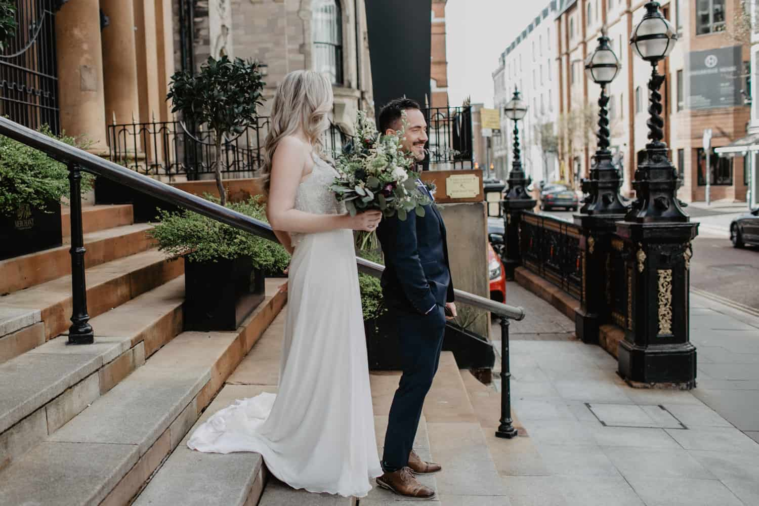 Elopement Belfast - First look