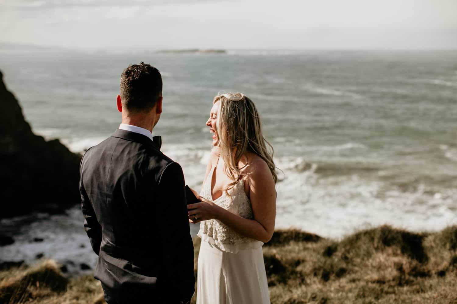 Elopement Northern Ireland at Dunluce Castle