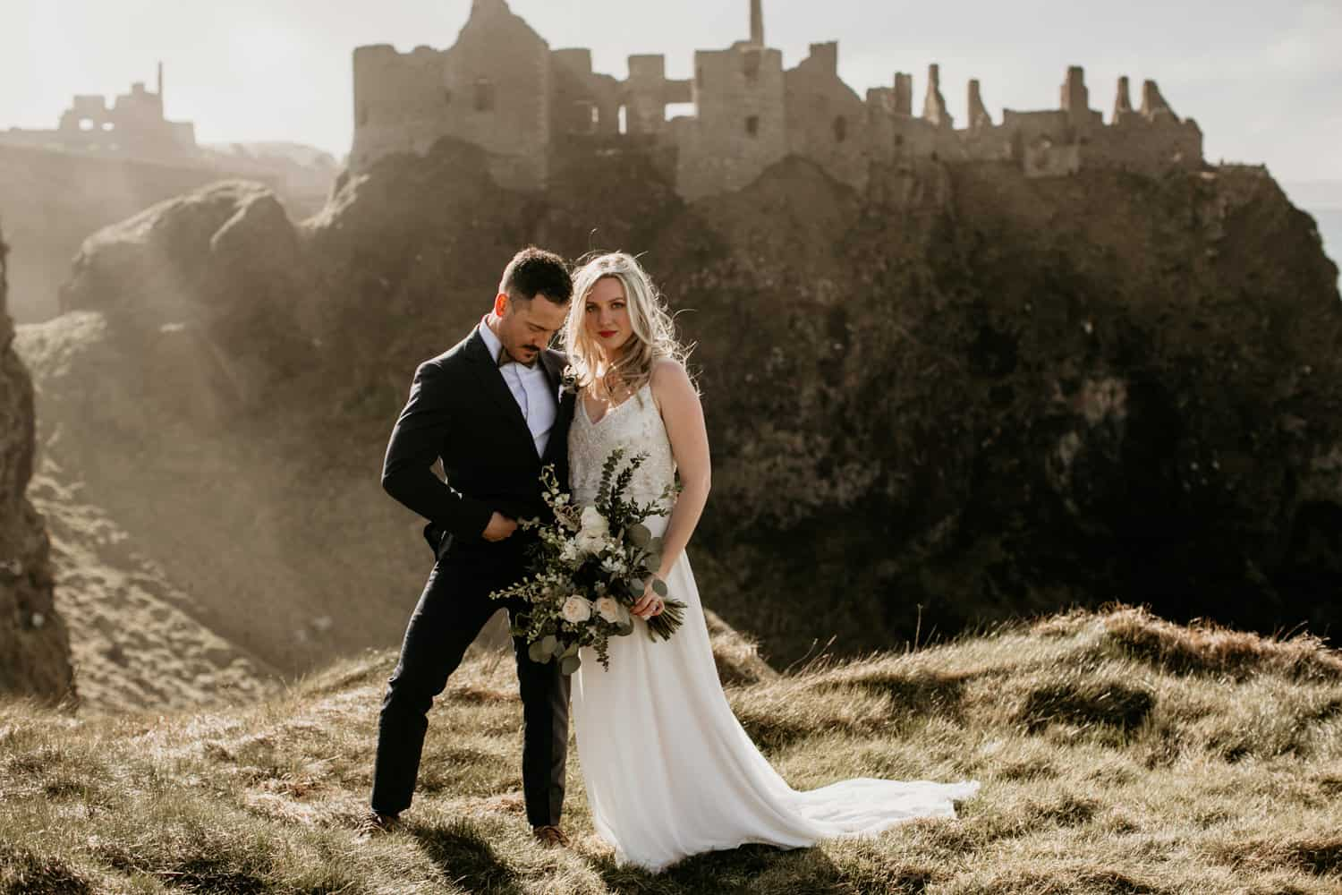 stunning dunluce castle wedding
