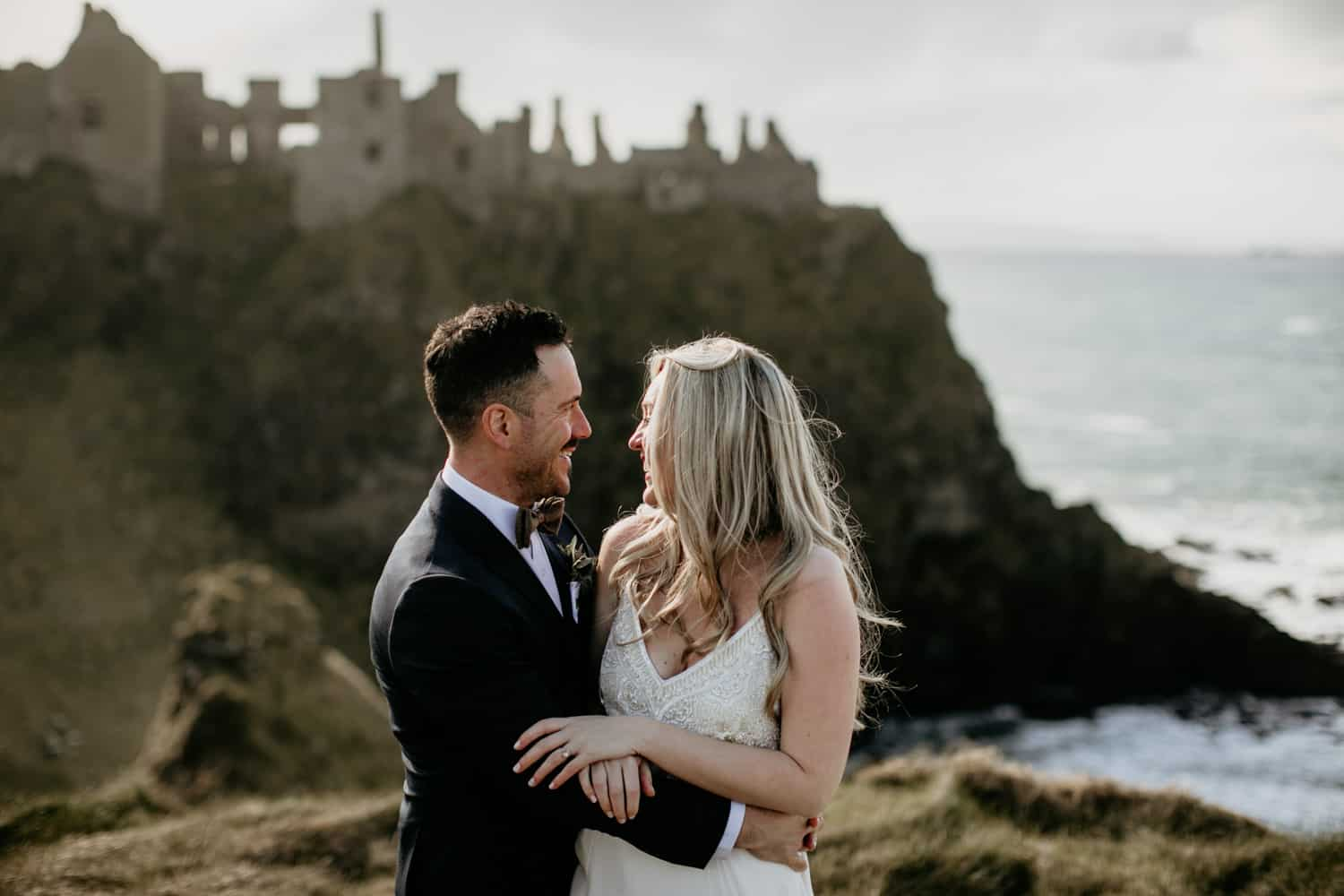 Ireland wedding photographer Dunluce castle