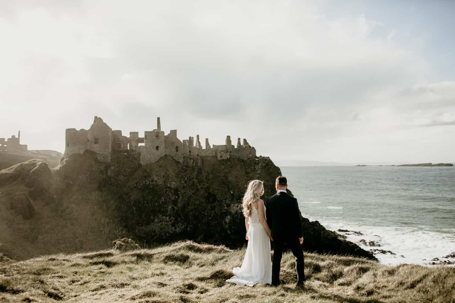 Dunluce Castle wedding couple