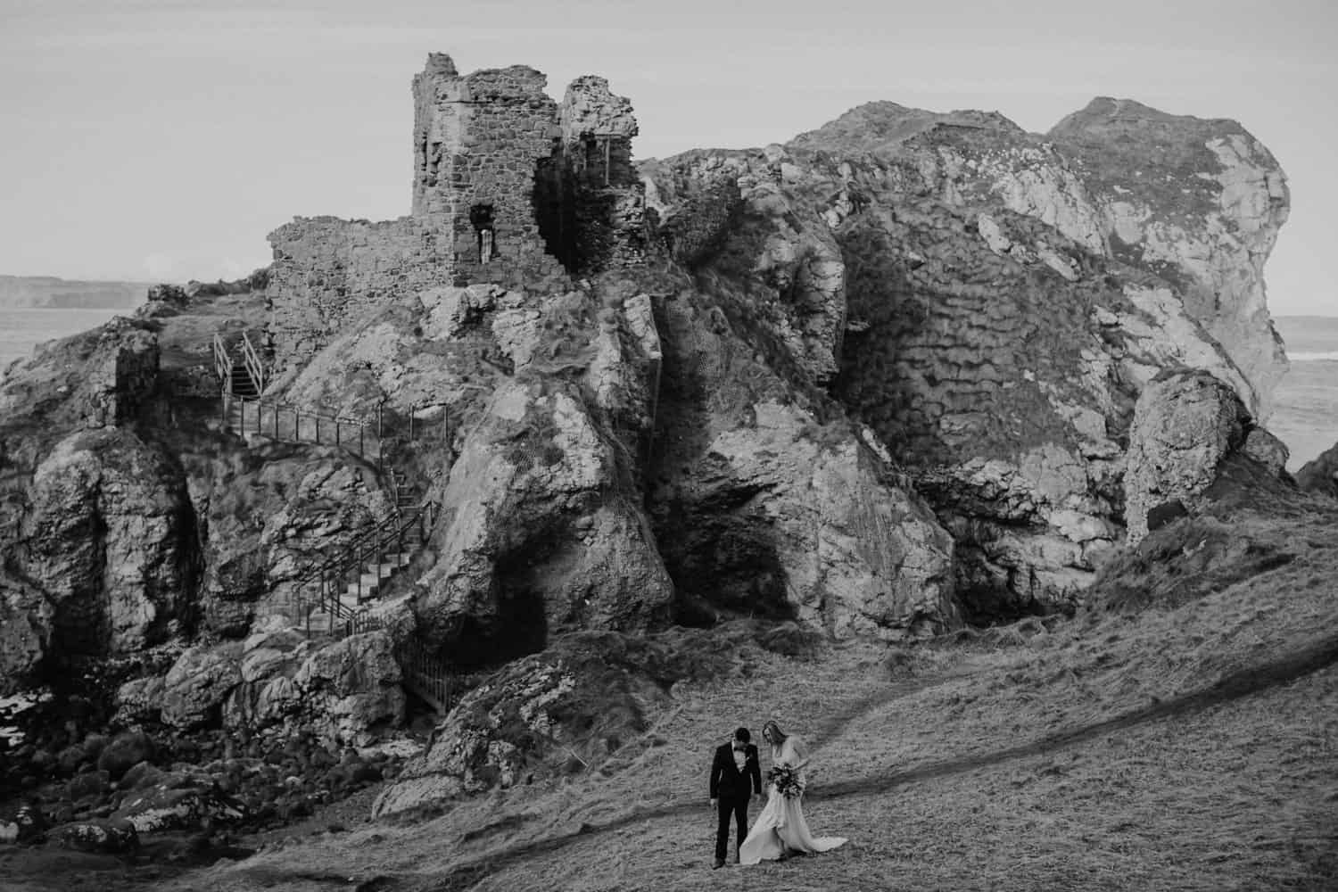 elopement dunluce castle ireland