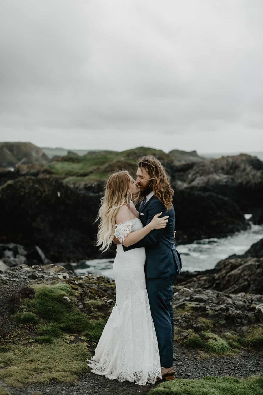 ballintoy harbour elopement northern ireland