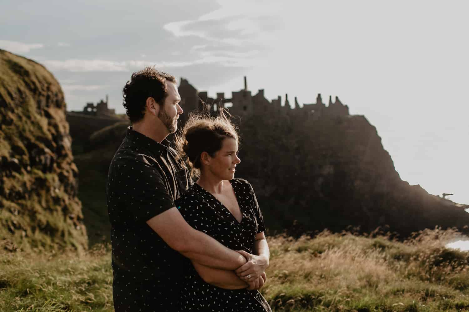 Emily and Brent Dunluce Castle