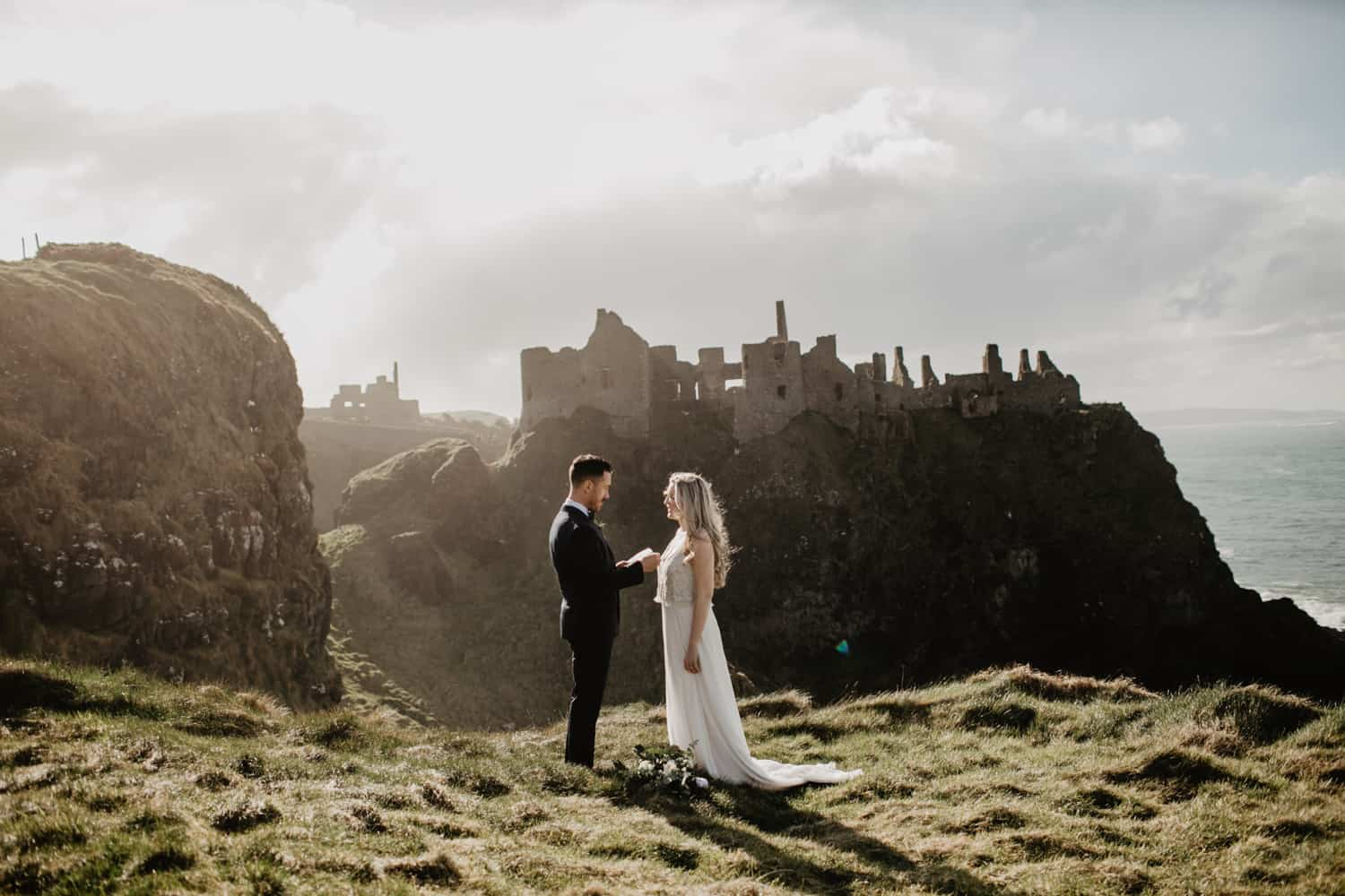 Dunluce castle elopement northern ireland photographer