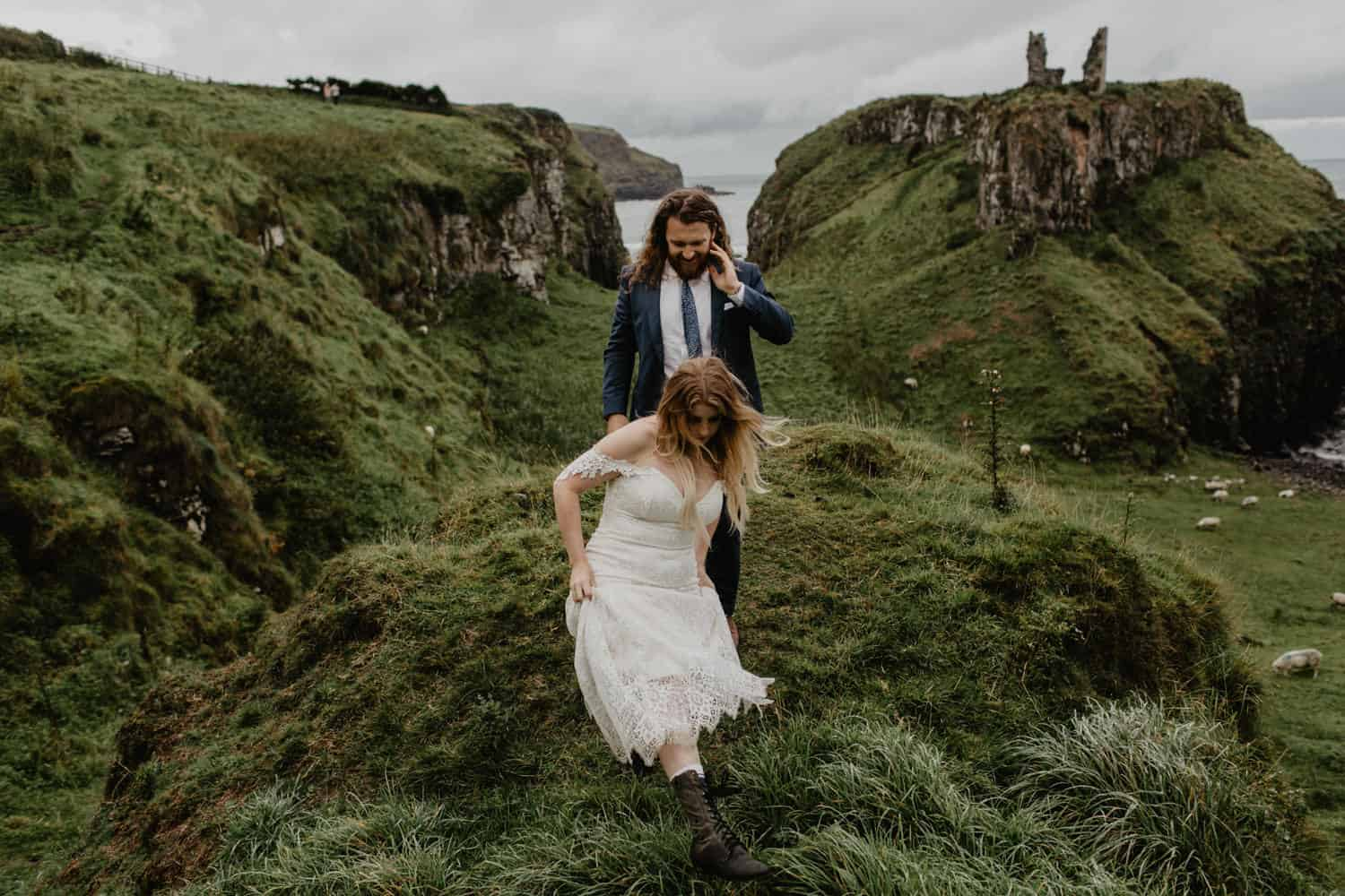 Dunseverick elopement northern ireland photographer