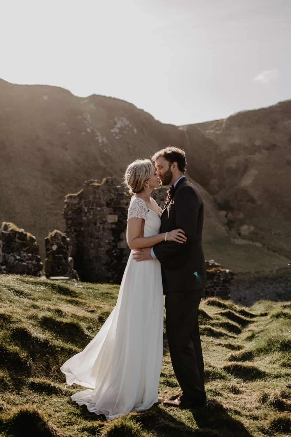 Kinbane castle northern ireland elopement photographer