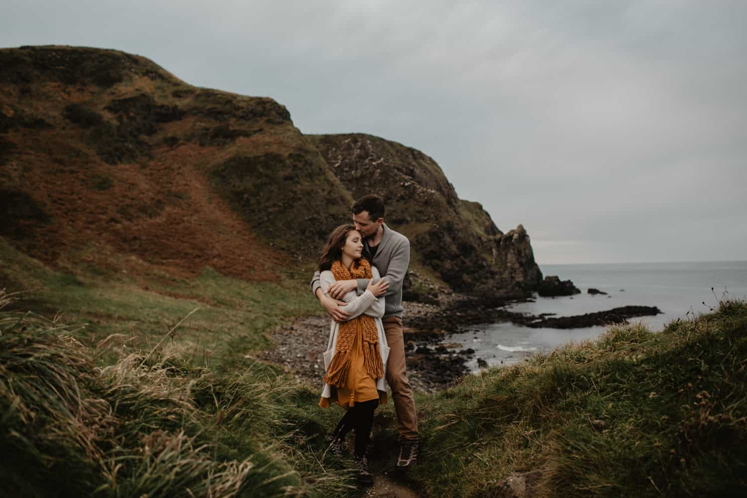 adventurous elopement photographer Northern Ireland Kinbane castle