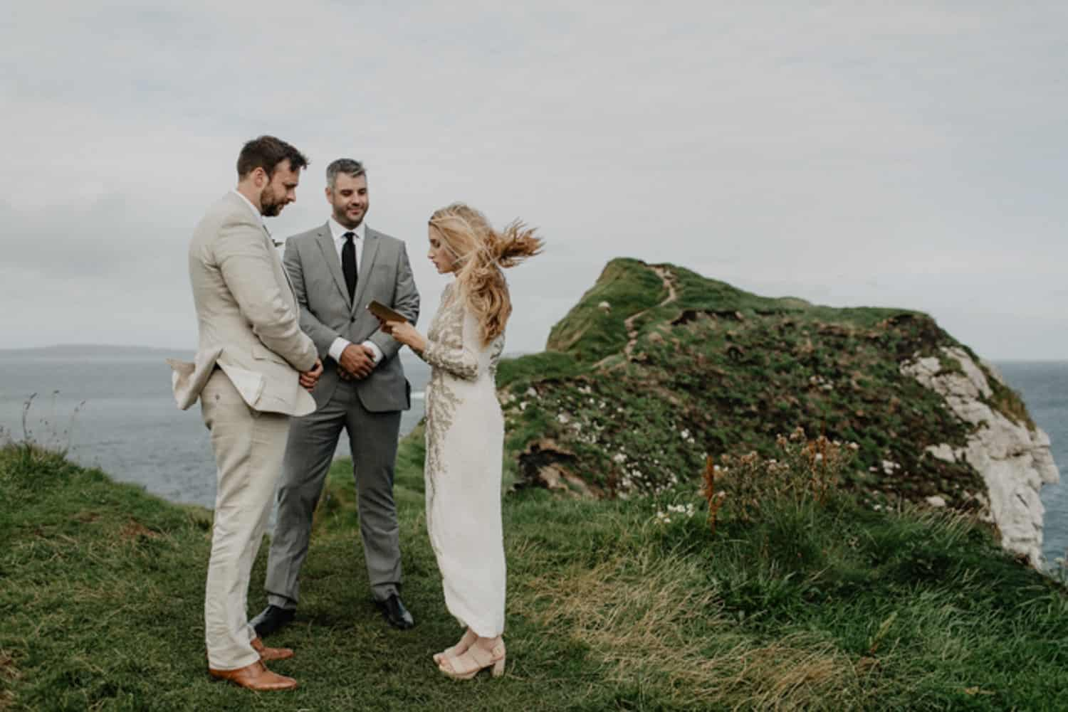 Irish cliffs elopement