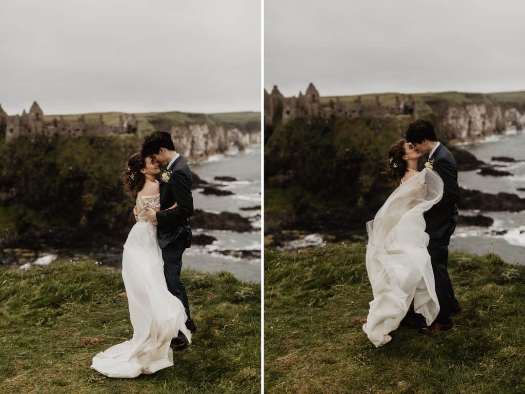 northern ireland elopement dunluce castle