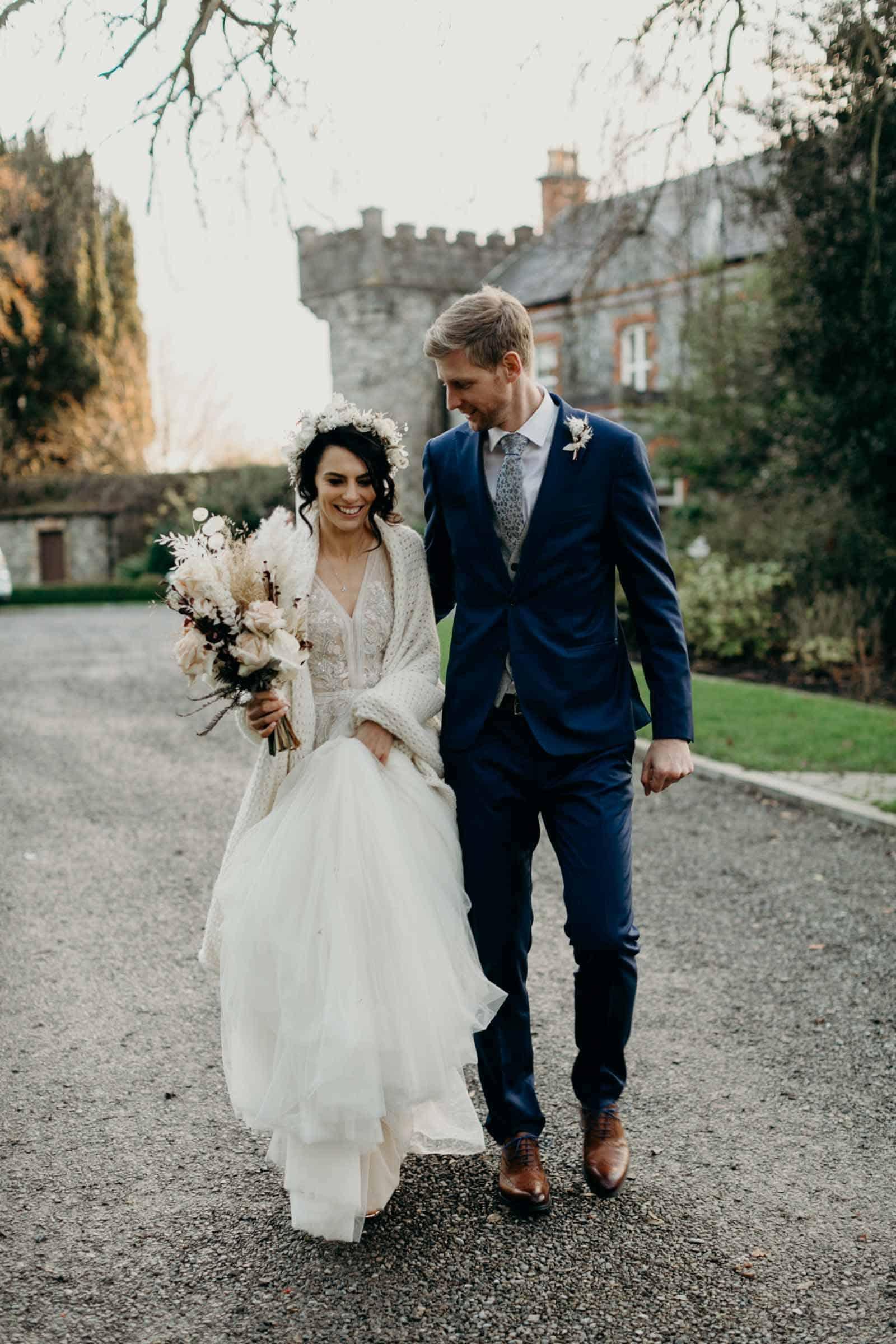 Ireland wedding bride and groom
