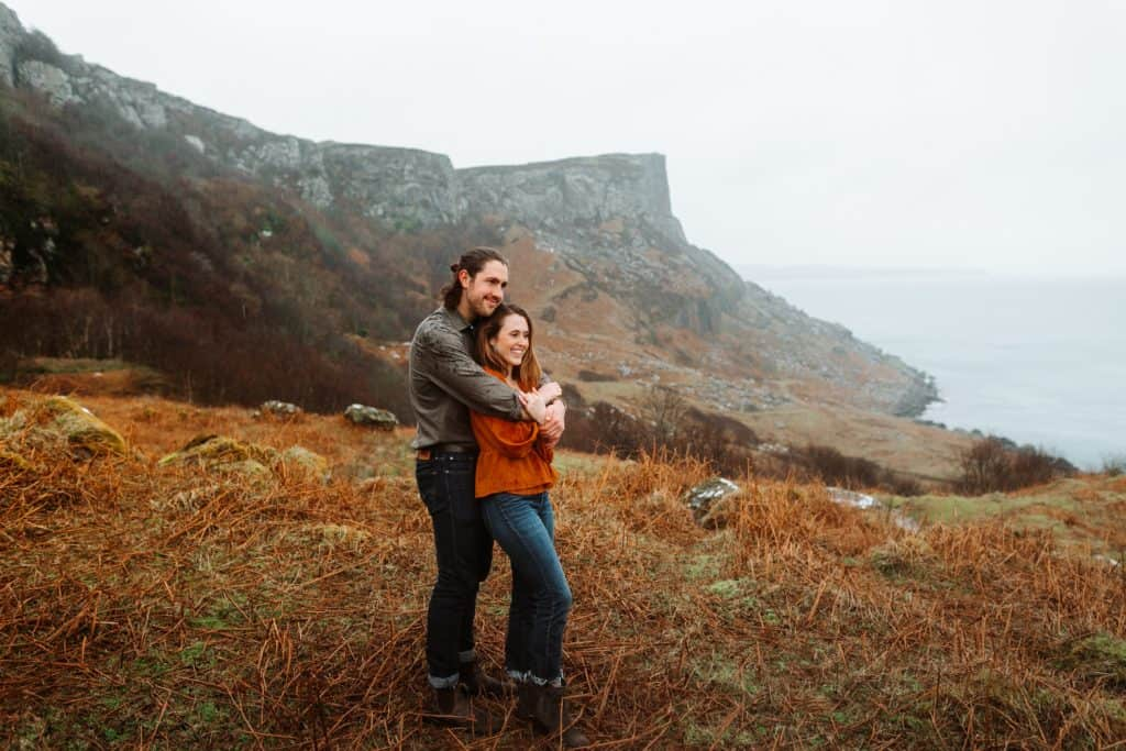 North coast of Ireland elopement
